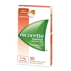 Nicorette Freshfruit z okusom sadja 2 mg, zdravilni žvečilni gumiji